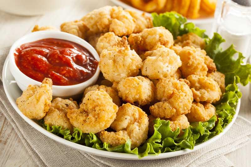 popcorn shrimp $ 0 hot bar